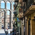 The streets of Segovia by Jonathan Evans