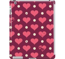 Cute Vintage Hearts iPad Case/Skin