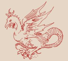 Red and Tan Dragon Shirt by Archpress