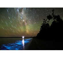 Bioluminescence in the Gippsland Lakes Photographic Print