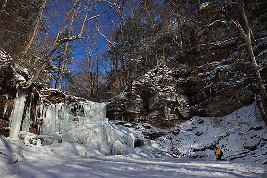 Deep Freeze at Sheldon Reynolds Falls by Mark Van Scyoc