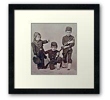 1860s Photo of Civil War Children Framed Print