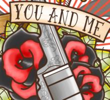 Against the World Valentine Sticker