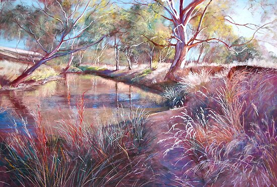 'Sunday Creek at Dochery's Road, Tallarook' by Lynda Robinson
