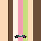 Ice Cream Color Stripe Pattern by thejoyker1986