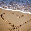 Fleeting Heart on a Sandy Beach by EmilyFNM3D