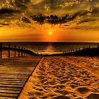 Boardwalk Sunset by AstroNance