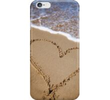 Fleeting Heart on a Sandy Beach iPhone Case/Skin