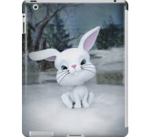 3D cartoon character of a cute bunny in winter snow iPad Case/Skin