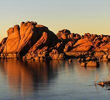 Sunset on Watson Lake by Linda Sparks
