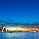 Hong Kong skyline at sunset by kawing921