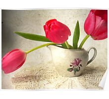 Vintage Tulips. Poster