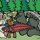 Teddy Bear And Bunny - Tempting Fate by Brett Gilbert