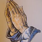 Praying Hands in color by Mel & Adam Sullivan