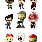 Chibi Gamers Set 1 by artwaste