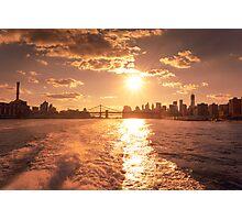New York City - Sunset Skyline Photographic Print