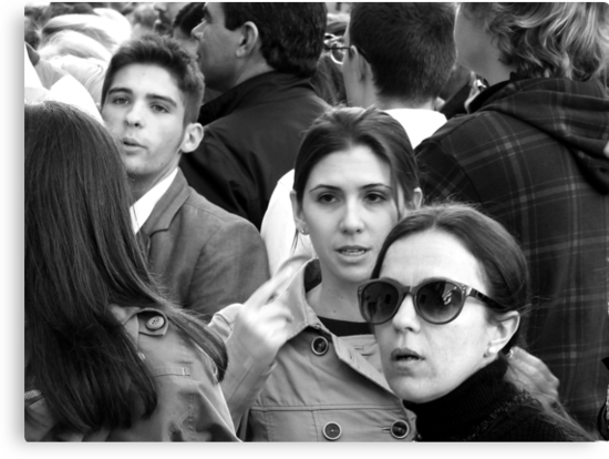 Those Faces in the Crowd .. by Berns