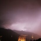 Lightning strikes over the French alps by Grace Johnson