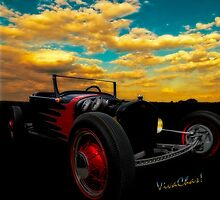 Model T Rat Rod Cruisin Out At Sunset don't need no stinkin V-8 by ChasSinklier