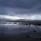Blue grey clouds as Atlantic storm approaches. by Grace Johnson