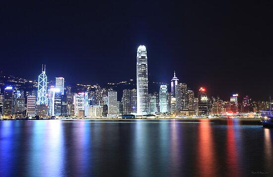 Hong Kong Lights by Ursula Rodgers