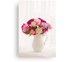 Roses By The Window Canvas Print