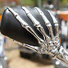 Skeleton Hand on MC Mirror by aussiebushstick