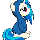 Vinyl Scratch - Lost in Thought Print by broniesunite