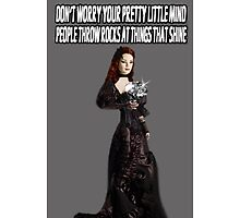 ❀◕‿◕❀ DON'T WORRY.. PEOPLE THROW ROCKS AT THINGS THAT SHINE IPHONE CASE ❀◕‿◕❀ by ✿✿ Bonita ✿✿ ђєℓℓσ