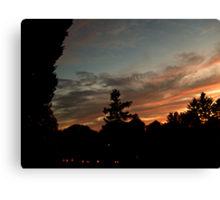 October Sunset Over Sleepy Hollow Cemetery, NY  Canvas Print