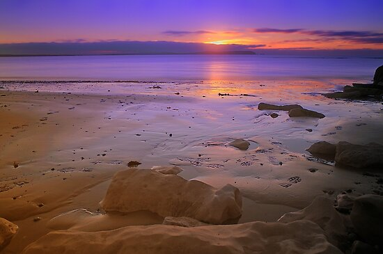 Late Dawn Avon Beach by delros