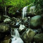 Serenity Falls, Sunshine Coast  by Aaron  Bishop