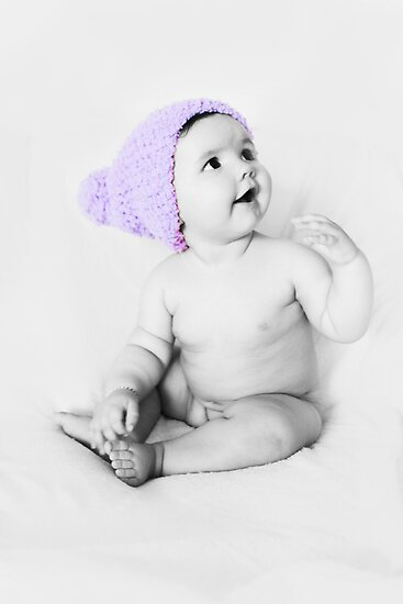 Cute Purple Beanie by VivarFotografia