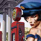 Vintage Gas Station by Paul Fleet