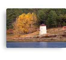 Windmill At Autumn At Cubuk Lake, Turkey Canvas Print