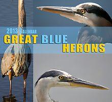 GREAT BLUE HERONS 2011 Calendar by imagetj