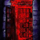 Grungy old London telephone box by JillySB