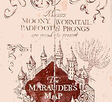 Marauders Map Harry Potter by eatorcs