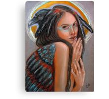 Crow Woman Canvas Print