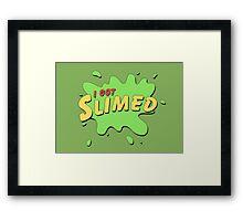 I Got Slimed Framed Print