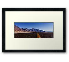 Death Valley Road.  Framed Print