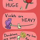 "Sheldon the Tiny Dinosaur Valentine - ""Roses are Huge"" by Odyanii"