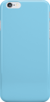 Sky Blue Fabric Print Iphone Case by Detnecs2013