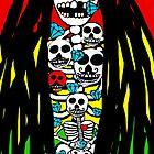 Rasta Skeletons by Trent Shy