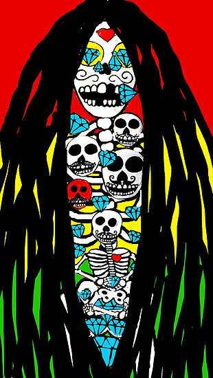 Rasta Skeletons by Trent Shy