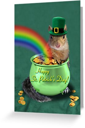 St Patrick's Day Squirrel by jkartlife
