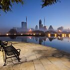 The Austin Skyline - a Bench with a View by RobGreebonPhoto