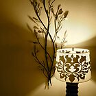 Lamp and Wall Decoration by Kent Nickell