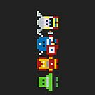 Pixel Art Avengers by jaredfin