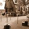 Brickenden Church - setup for the wedding - view in sepia by gaylene